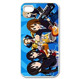 Gdragonhighfive Cell Phone Case Cover K-On Chibi Girl Band for Iphone 4 4s Cover Best Iphone 4 4s Case Show
