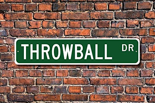 Ditooms Throwball Sign Fan Player Gift Non-Contact Ball Sport Custom Street Sign - Throwball Player