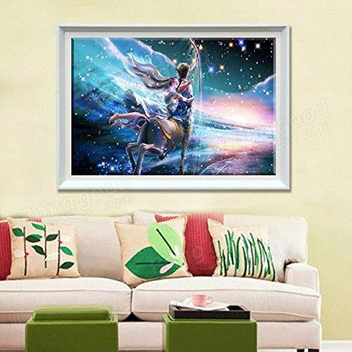Bazaar 30x40cm 5D DIY Sagittarius Diamond Painting Resin Full Rhinestone Twelve Constellations Cross-stitch Kit