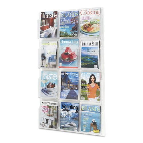 Safco 12 Pamphlet Pocket Display (Safco Products 5602CL Reveal Literature Display, 12 Magazine, Clear)
