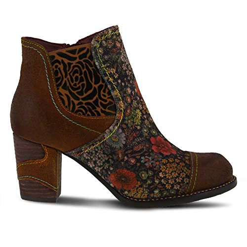 Multi Melvina Brown Step Spring leather Leather Booties Women's L`Artiste 6OSwq0p