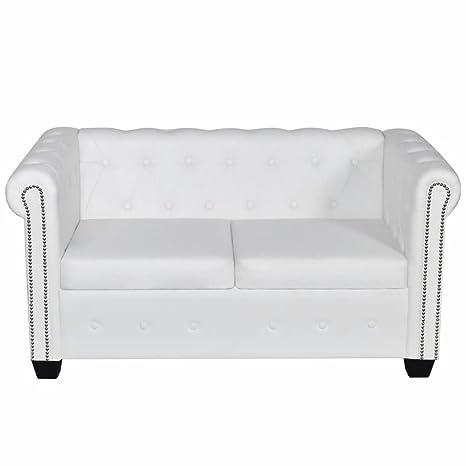 Luckyfu questo sofá Chesterfield Blanco a 2 plazas.Questo ...