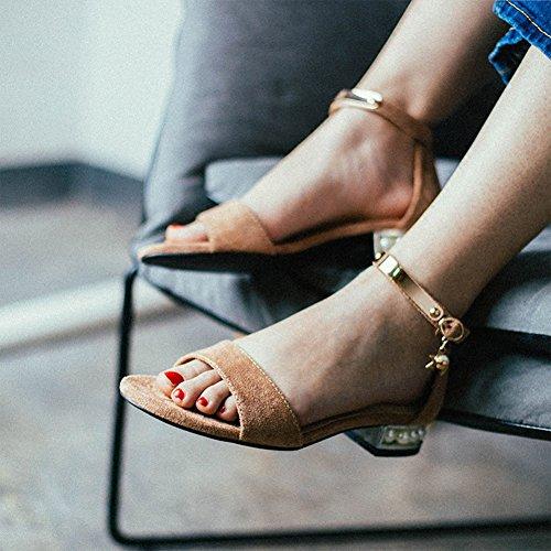 sandales Chaussures EU38 Simples Moyen UK5 Talon Saison La Mode À Femme Rose Ouvert UE36 UK4 D'été QIDI Semelle Caoutchouc 5 Bout en Couleur fSWwZfadA