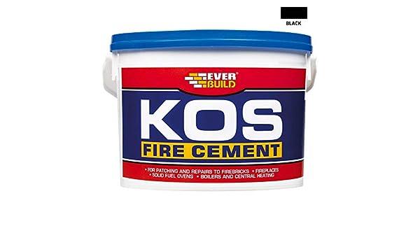 Everbuild EVBKOSBKL500 500 g Kos Fire Cement Black
