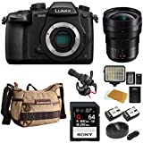PANASONIC LUMIX DC-GH5 Body 4K Mirrorless Camera + Panasonic H-E08018 F/2.8-22 8-18mm, F2.8-4.0+ 64 GB Sony G-Series Card Bundle