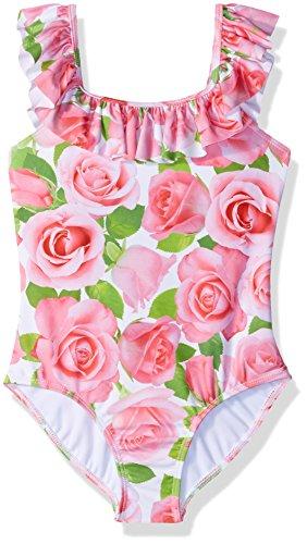 Kate Mack Big Girls' Rose Parfait 1pc Swimsuit, Pink, 10