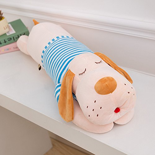 Cute Stuffed Dog Animal Toy Plush Dog Pillow 35inch (Blue)