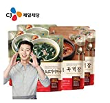 [ 6 Packs ] Korean Bibigo Seaweed Soup 500g x 3 미역국 + hot spicy meat stew 500g x 3 육개장