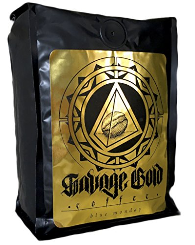 Savage Gold Blue Monday Peru Proasso Bosques Verdes Handcrafted Coffee Whole Bean, 16 oz.