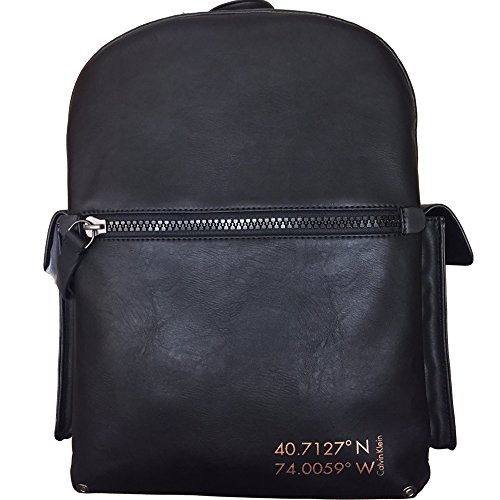Calvin Klein Leather Coordinates Backpack (Black) by Calvin Klein
