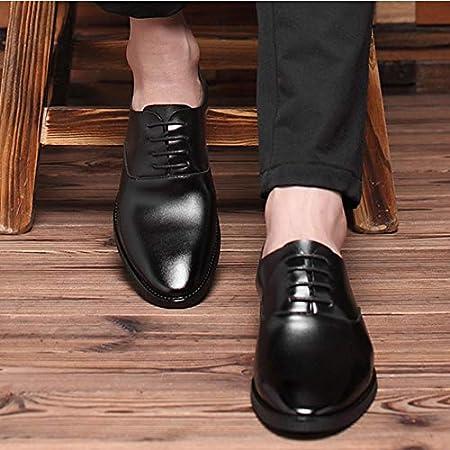 WMZQW Zapatos de Negocios para Hombre Vestir Zapatos de Cuero Fiesta Smoking Clásico Oxford Encaje Zapatos 37-46