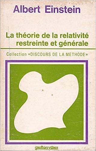 Read La Théorie de la relativité restreinte et générale epub, pdf