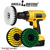 Kitchen Tools - Drill Brush - House Cleaning Spin Brush Kit - Stove, Oven Rack, Sink, Baseboard, Floor - Bathroom Accessories - Shower Door - Vanity Mirror - Shower Curtain - Bath Mat - Tile and Grout