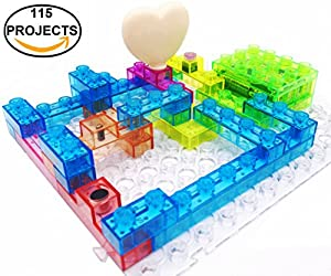 7TECH Integrated Circuit Electronic Building Blocks 115 Projects DIY Brain Game Educational Science toys for Kids