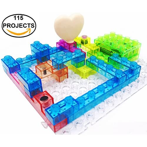 475f78f2e free shipping 7TECH 115 Projects Integrated Circuit Electronic Building  Blocks DIY Brain Game Educational Science toys