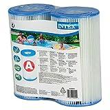 Intex Twin Pack Swimming Pool Filter Cartridge Type A #29002