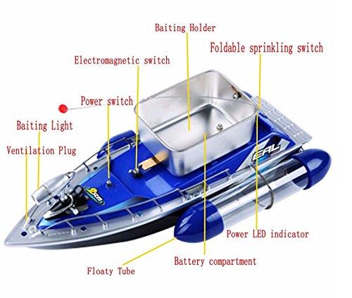 Bait Runner Fishing Remote Control Boat Carp Coarse 5200mAh