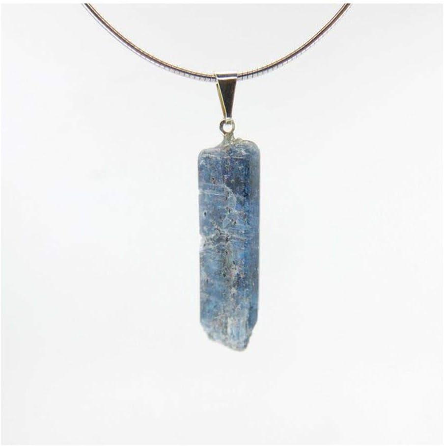Mineral Import Colgante de Cianita Azul Oscuro -Baño de Plata- - 4197VC
