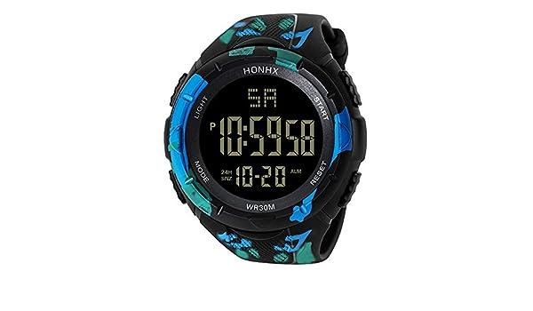 Amazon.com : Iuhan® Digital Sports Watches for Men Boys Teens, LED Waterproof Digital Quartz Fashion Watch Military Sport Mens Wrist Sports Watch Alarm ...