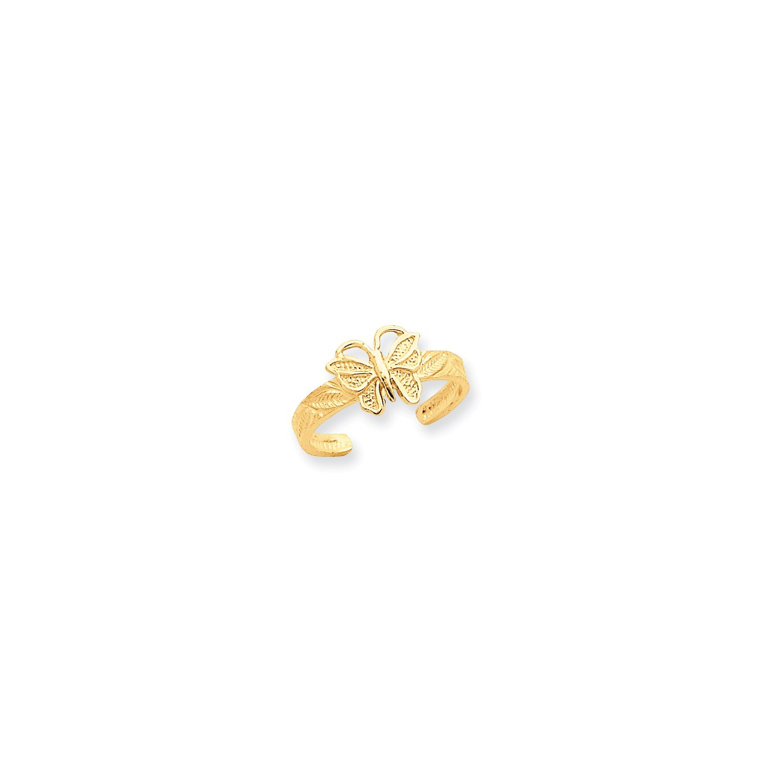 Roy Rose Jewelry 14K Yellow Gold Butterfly Toe Ring