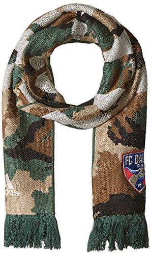 MLS FC Dallas Adult Jacquard Scarf, One Size, Camo (Mls Vomax Dallas)
