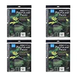Itoya Art Portfolio Polyglass Refill Pages 4-Pack (Set of 10/Size: 8.5'' x 11'')