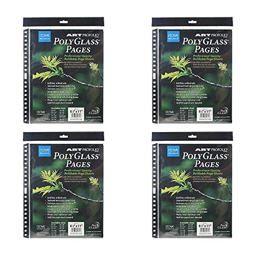 Itoya Art Portfolio Polyglass Refill Pages 4-Pack (Set of 10/Size: 8.5'' x 11'') by Itoya of America, Ltd (Image #2)