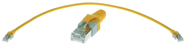 300 mm Patch Lead Ethernet Cable Cat5e Yellow RJ45 Plug to RJ45 Plug