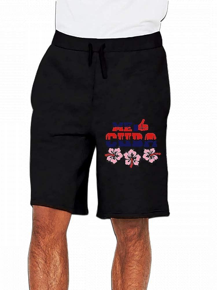 Me Encanta Cuba Hibiscus Pulse Mens Casual Shorts Pants