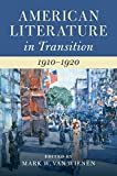 img - for American Literature in Transition, 1910-1920 book / textbook / text book