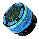 Shower Radios,IP67 Portable Wireless Bluetooth Waterproof Dustproof Speaker with Hook LED Mood Light,Super Bass and HD Sound Shower Radio,for Shower,Pool, Beach,Kitchen and Outdoo