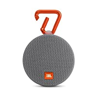 JBL Clip 2 Waterproof Portable Bluetooth Speaker - Grey