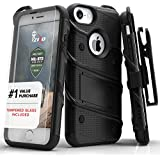 Zizo [Bolt Series]  'iPhone 7 Case, with [iPhone 7 Screen Protector] Kickstand [Military Grade Drop Tested] for...