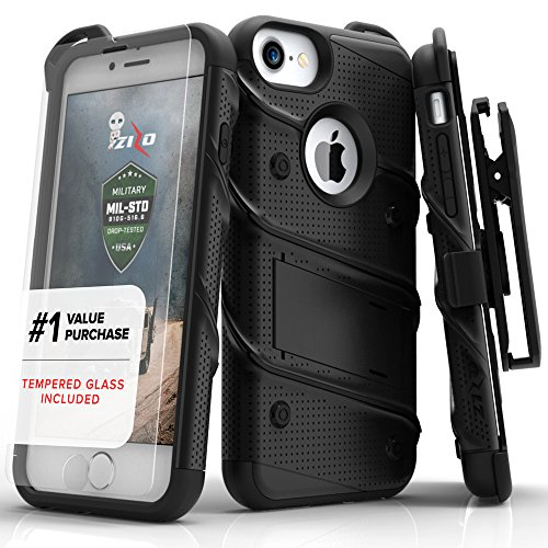 Zizo-Bolt-Series-Military-Grade-Drop-Tested-Armor-Kickstand-Holster-Belt-Clip-Case-with-Tempered-Glass-Screen-Protector-for-iPhone-7