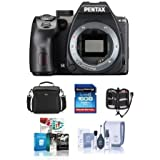Pentax K-70 24MP Full HD Digital SLR Camera, Body Only, Black - Bundle with 16GB SDHC Card, Camera Bag, Cleaning Kit, Memory Wallet, Software Package