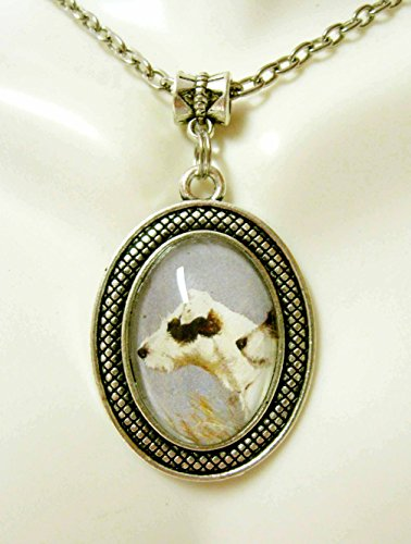 profile dog pendant and chain - DAP05-055 ()