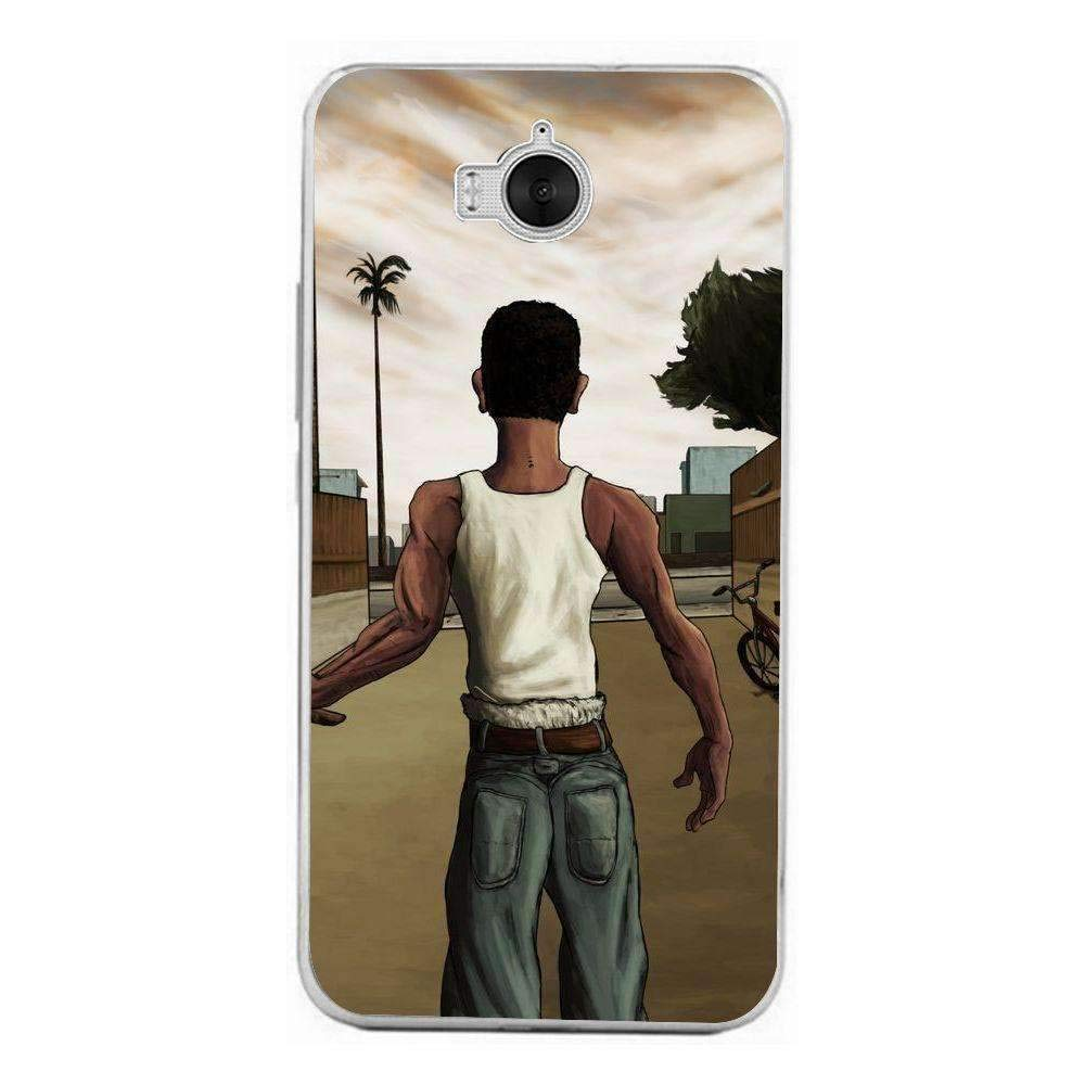 Amazon.com: Silicone Case for GTA San Andreas Huawei Y6 2017 ...