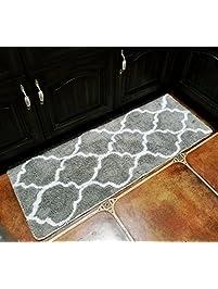 Hihome Floor Mats For Home Kitchen Entrance Rug Indoor Grey Doormat Bath Mat  (18×