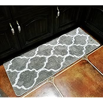 Merveilleux Hihome Floor Mats For Home Kitchen Entrance Rug Indoor Grey Doormat Bath Mat  (18×