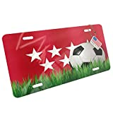 Metal License Plate Soccer Team Flag Madrid region Spain - Neonblond