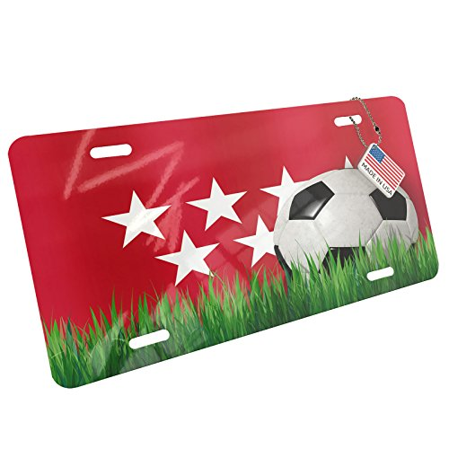 Metal License Plate Soccer Team Flag Madrid region Spain - Neonblond by NEONBLOND
