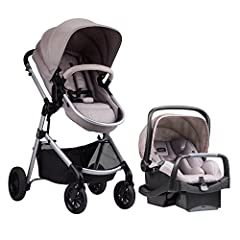 The Evenflo Pivot Modular Travel System is the multipurpose travel stroller you've been looking for. This exceptional multipurpose carriage, stroller, and car seat combo is a durable travel stroller that includes the Sarema Infant Car Seat an...