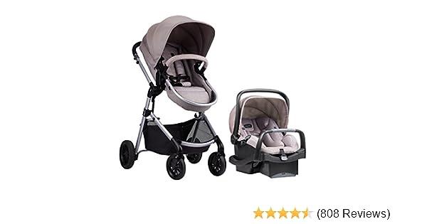 Evenflo Pivot Modular Travel System, Lightweight Baby Stroller, Sleek & Versatile, Easy Infant Car Seat Transfer, Oversized Storage Basket, Blanket ...