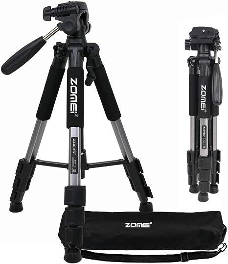 ZOMEI Q111 - Trípode liviano para cámara con soporte para teléfono ...