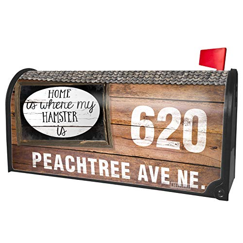 (NEONBLOND Custom Mailbox Cover Home is Where My Hamster is Funny)