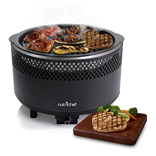 NutriChef PKGRCH41 Charcoal Grill, Medium, Black