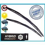 Front Frontscheibenwischer 650-550mm Wischerbl/ätter AERO 2 x Premium HYBRID Scheibenwischer Satz Set Premium Qualit/ät SHYBPOLY-462