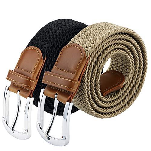 Maikun Belts For Men, Canvas Elastic Belt, Work Belts For Men 37 45 (Ladies Canvas Belts)
