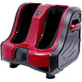 Beautiful leg foot massager, Heating function, Home leg machine, Calf foot massager, Suitable for family health gifts (Color : Red)