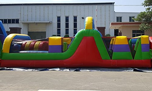 40-Foot Obstacle Course, Retro Styled, Commercial Inflatable